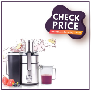 Duronic Juicer JE10 Whole Fruit and Vegetable Juicer Powerful 1000W Large Feeding Tube Centrifugal Power