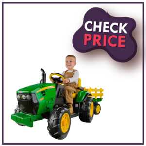 eg Perego John Deere Ground Force Tractor With Trailer Best Electric Car For kids When It Comes To Their Safety