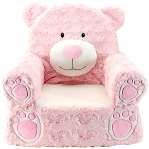 10. Animal adventure Pink bear children's plush chair