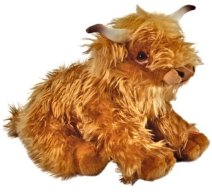 Large plush highland cow with sounds