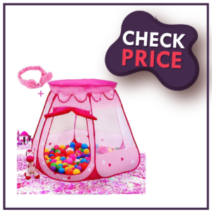 Le Papillon Pink Princess Tent kids Ball Pit