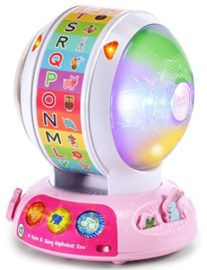 3. LeapFrog Spin and Sing Alphabet Zoo, Pink