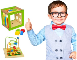 12. TOYVENTIVE Wooden kids baby active cube