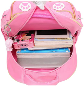 Hyundly Cat Face Waterproof School Bag For Girls Book Bag