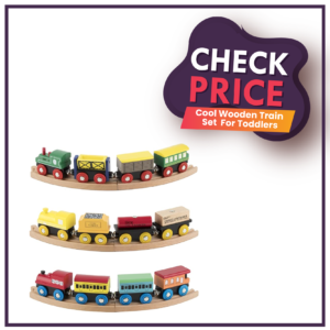 Cool Wooden Train Set For Toddlers