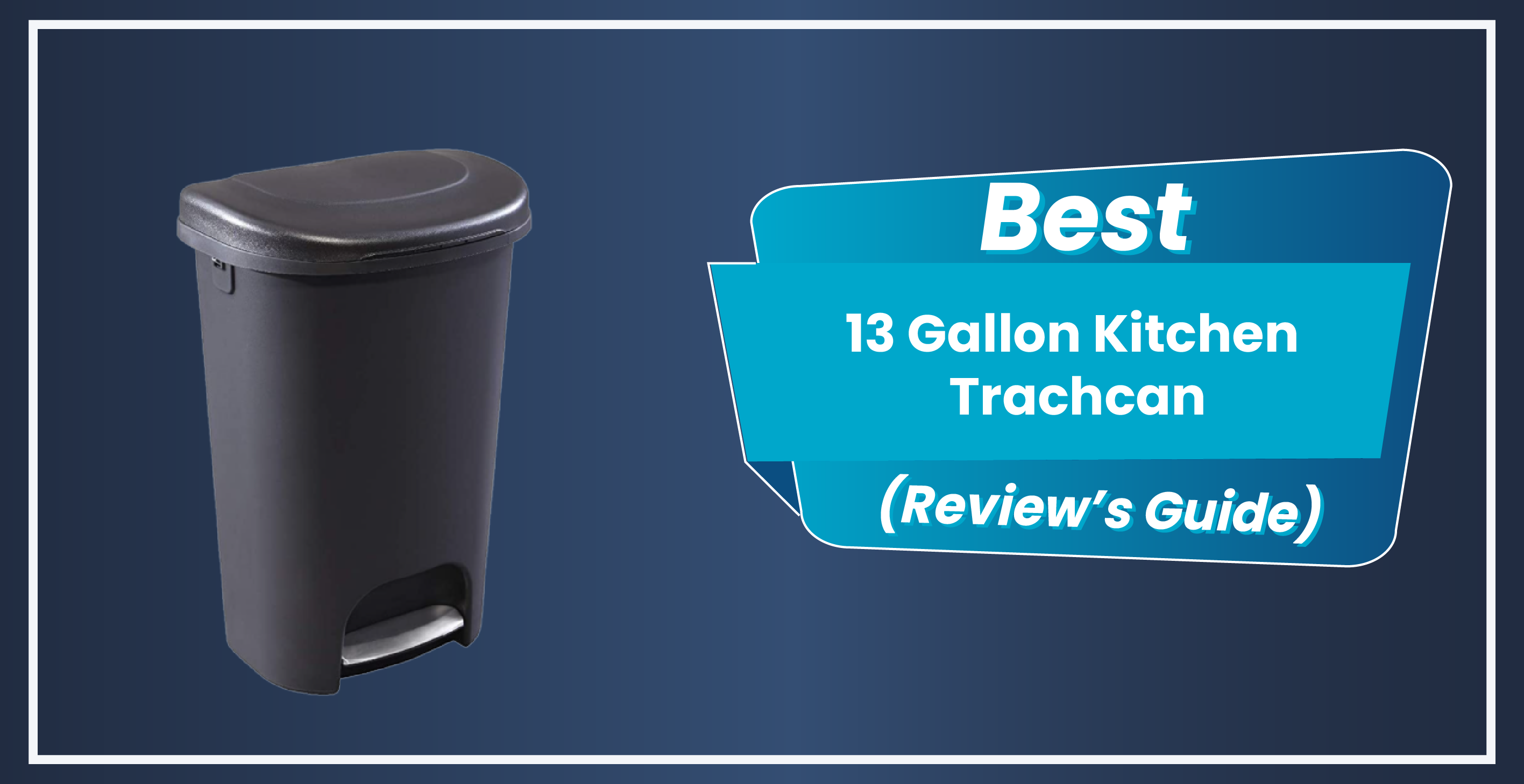 13 Gallon Kitchen Trashcan